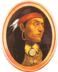 Pontiac (1. Nation chief). Painting by John Mix Stanley (1814–1872), American painter and explorer. Public Domain.