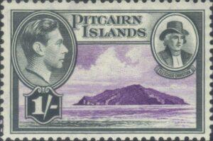 Postage stamp, UK - Pitcairn Island, 1 January 1940: Fletcher Christian. From: SteveStrummer. Public Domain.