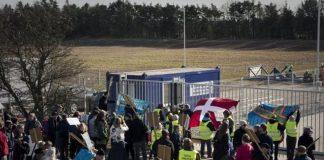 Camp Total Protest oprettes imod skiffergasboringer, se 30. juli nedenfor. (Foto: Laura Na Blankholm/Monsun).