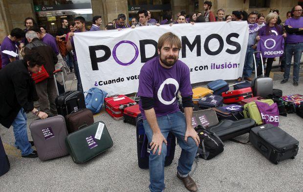 Podemos demonstration © Podemos Uviéu   Flickr Creative Commons