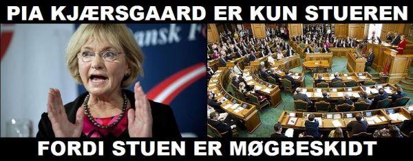 Det er ikke Kjærsgaard, der er blevet stueren, men hele stuen, der er blevet møgbeskidt !! (frit efter fhv. VS-folketingsmedlem Preben Wilhjelm)
