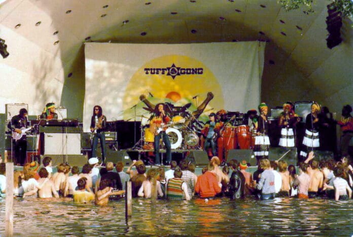 Bob Marley and The Wailers, The Summer of '80 Garden Party, Crystal Palace Concert Bowl, 7 June 1980. Photo: Tankfield. (CC BY-SA 3.0).