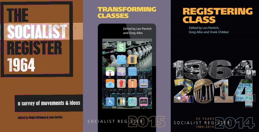 3 forsider af Socialist Register