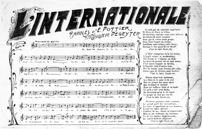 """French transport worker, revolutionary socialist, and Paris Commune member, Eugene Pottier dies. Pottier was the author of """"L'Internationale,"""" an unparalleled anthem to international labor solidarity."""