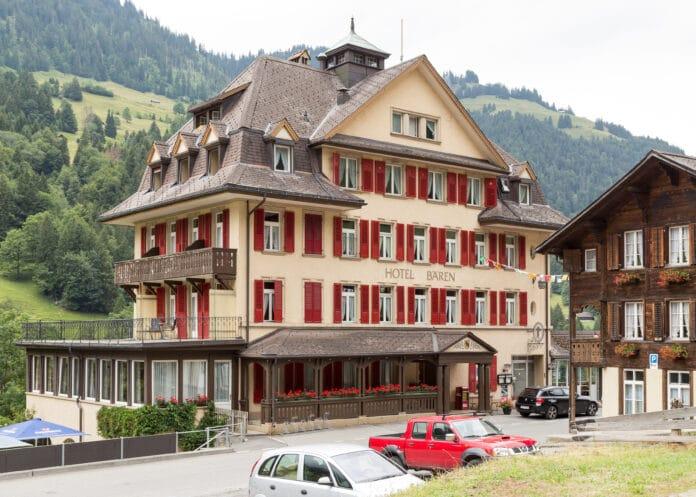 Hotel Bären in Kiental, venue of the 2nd Conference of the International Socialists in 1916. Photo: Taken 25 July 2015 by JoachimKohlerBremen. (CC BY-SA 4.0).