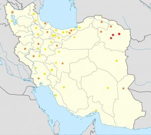 2017 Iranian protests by city, 30 December 2017. Source: https://commons.wikimedia.org/wiki/File:Last_week_of_2017_in_Iran_towns.png. CC BY-SA 4.0