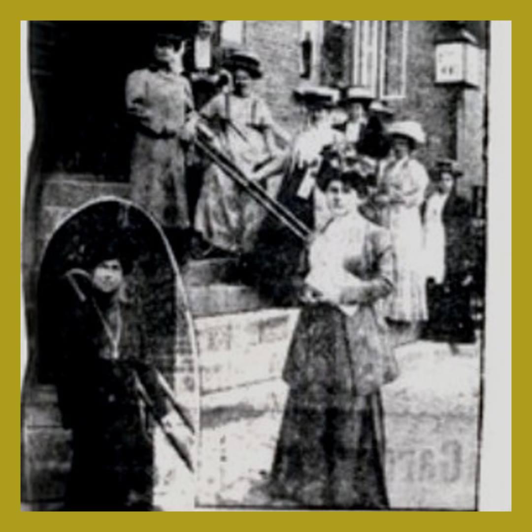 Jagtvej 69 i København, hvor kvindekongressen i 1910 indstiftede kvindernes internationale kampdag den 8. marts. Kilde: Kvinfo