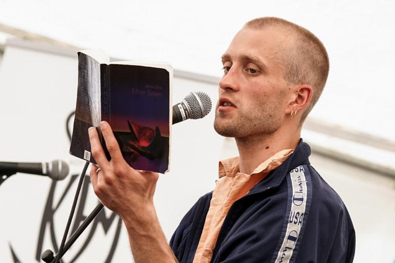 Jonas Eika at Litteraturexchange Festival, Aarhus 2019, 26. juni 2019. Foto: Hreinn Gudlaugsson. (CC BY-SA 4.0)