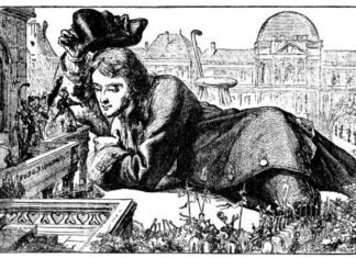 """""""Her Imperial Majesty was Pleased to Smile very Graciously upon Me."""" Illustration from the Gutenberg Project Gulliver's Travels To remote regions of the world written by Jonathan Swift, d.d. and published by D.C. Heath & Co, 1900, and edited by Thomas M. Balliet with thirty-eight illustrations and a map, 1900. Public Domain."""