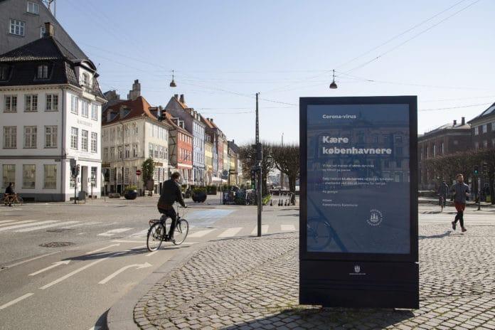 København den 27. marts 2020, med lukkede butikker for at stoppe spredningen af coronavirus. Photo: News Øresund – Sofie Paisley © News Øresund - Sofie Paisley. (CC BY 3.0).