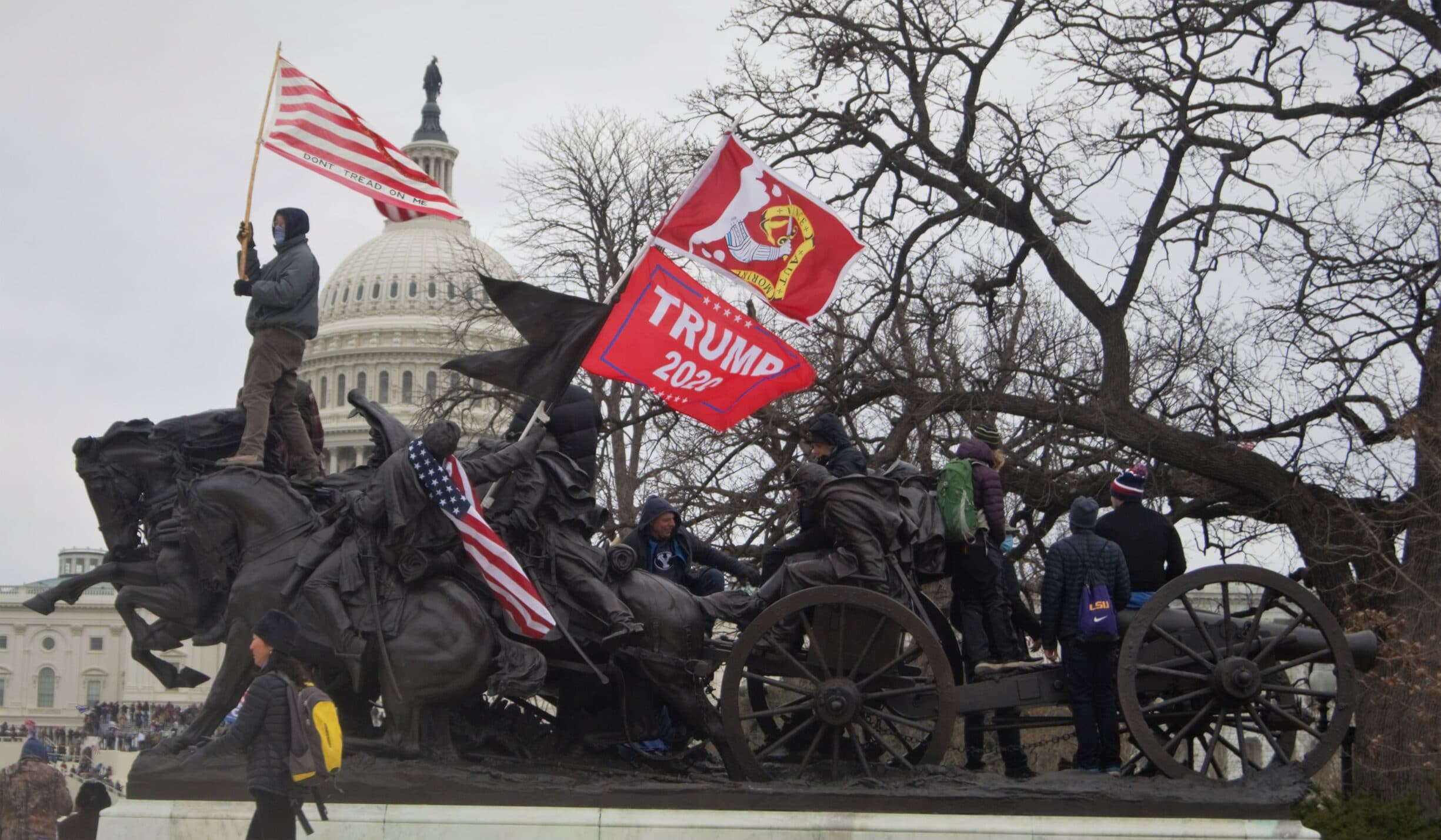 Before the Storm on Capitol Hill, 6 January 2021. Photo: Tyler Merbler from USA. (CC BY 2.0).