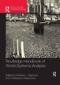 """Frontpage of """"Routledge Handbook of World-Systems Analysis"""""""